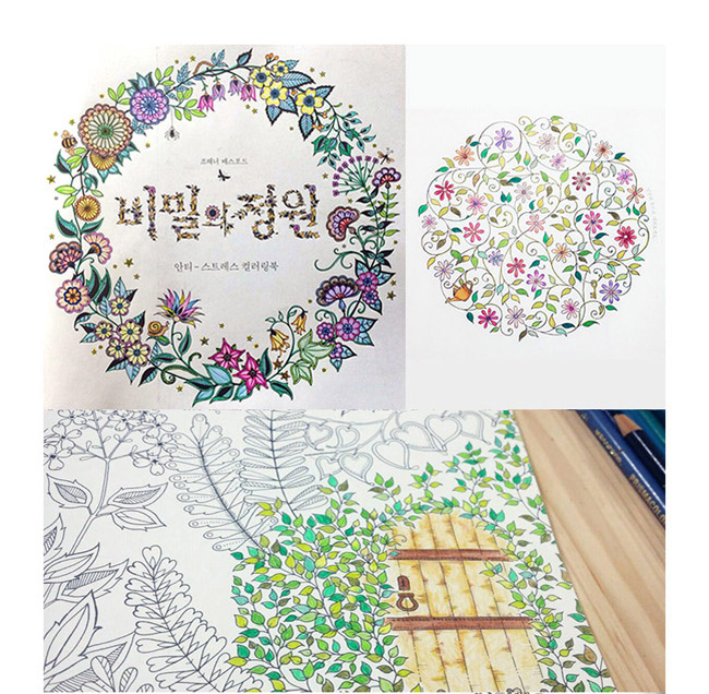 Product Information Anti Stress Colouring Book SECRET GARDEN