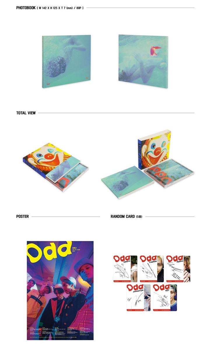 SHINEE 4th Album vol 4 - Odd CD (A Ver)