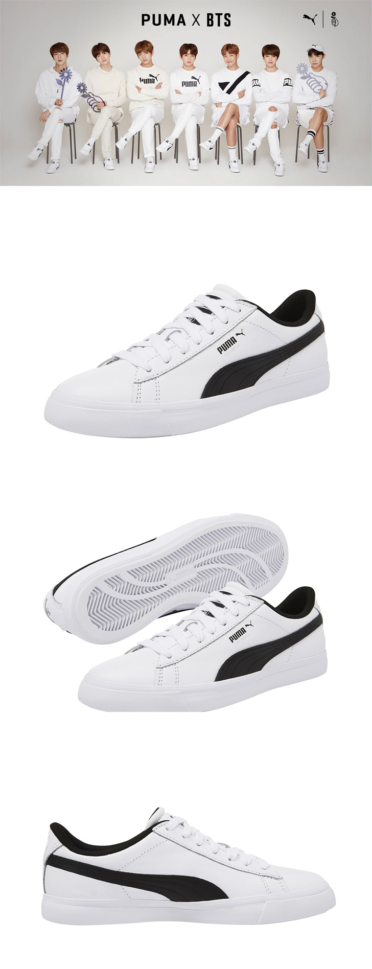 factory price 44fb1 153a4 BTS x PUMA Court Star Shoes