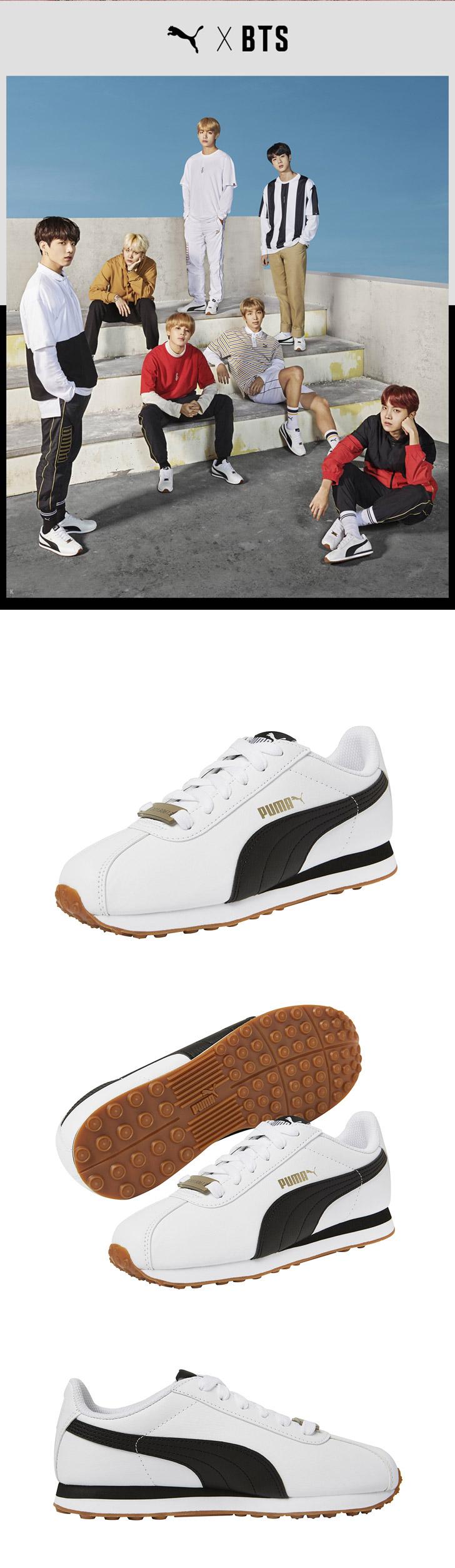 latest fashion where to buy elegant shoes BTS x PUMA Turin Shoes