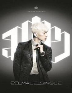 2PM JANG WOO YOUNG 1st Single Album - 23,Male,Single CD + Poster [Silver Edition]