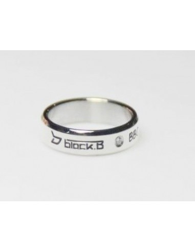 [BL01] Titanium Engraved Name Band Ring :Block B & BBC