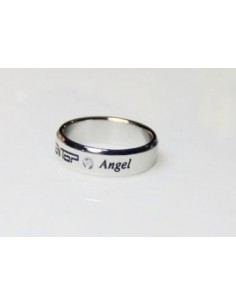 [TT17] Titanium Engraved Name Band Ring :TEENTOP & Angel
