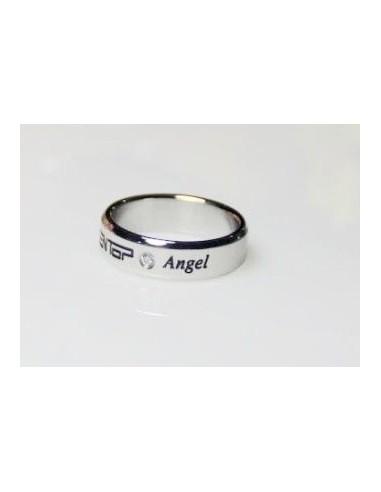 [TT17] Titanium Engraved Name Band Ring :TEENTOP & Angel