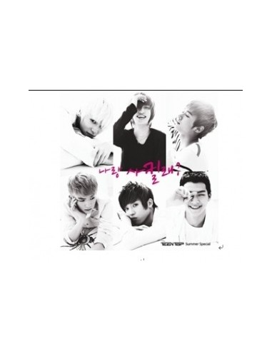 TEEN TOP Teentop Summer Special Album WILL YOU GO OUT WITH ME?  CD + Poster