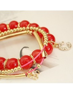 [NA32] Red Point Ring Bracelet