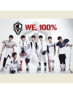 100% 1st Single Album - WE, 100% CD + Poster