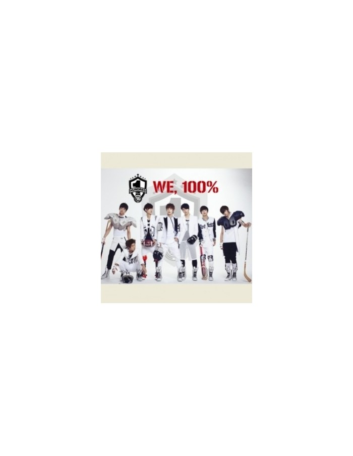100% 1st Single Album - WE, 100% CD + Poster