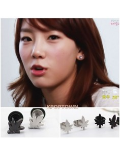 Girl's Girls Generation SNSD TAEYEON Sty Leaves Earring