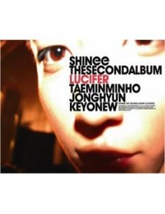 SHINEE 2nd Album Lucifer Ver B CD + Poster + Bonus Stickers
