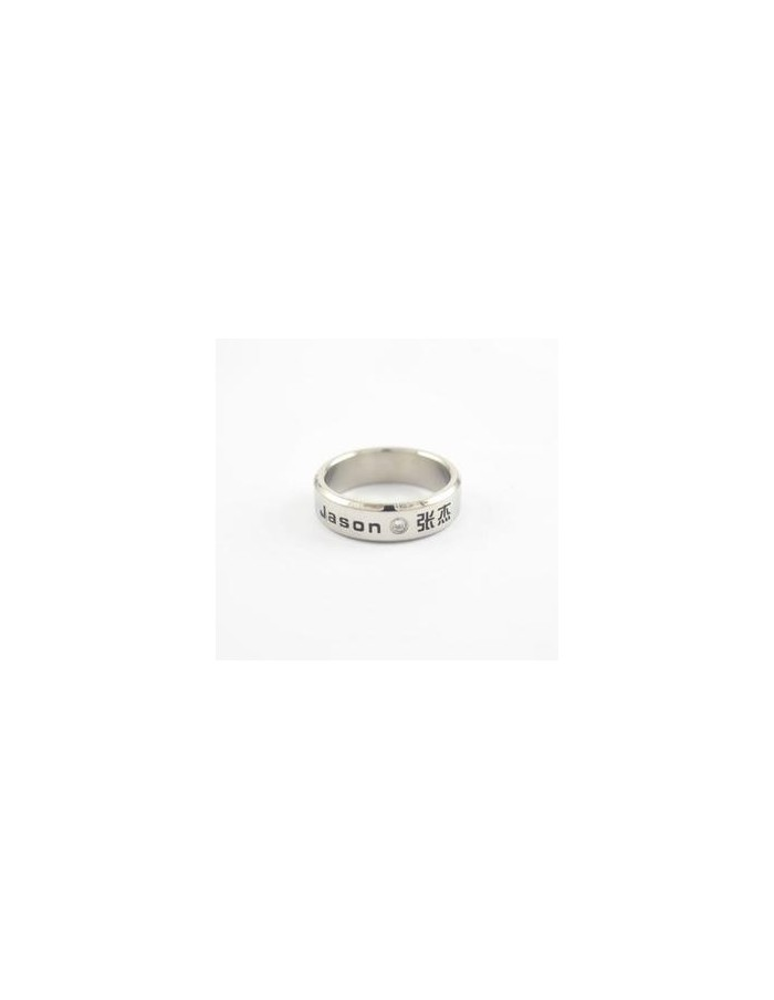 [DR14] Titanium Engraved Name Band Ring : Jason 张杰