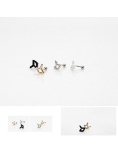 [DR15] bb simple logo Earring