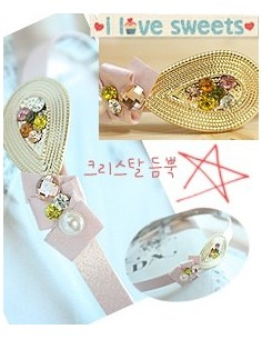 [NA78] Pinky Crystal Hairband