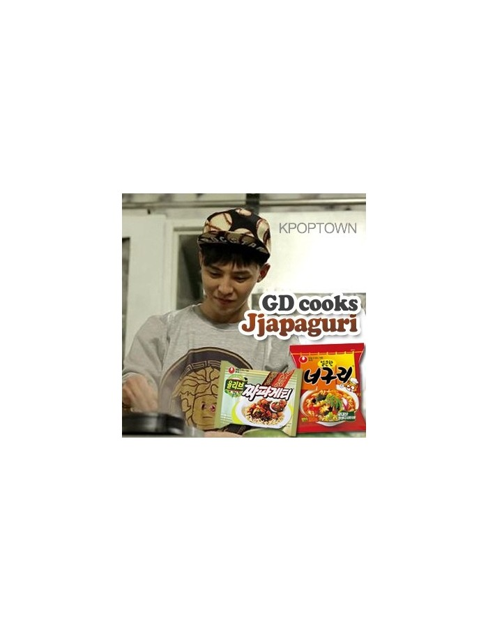 Big Bang's G-Dragon Cooks [ Jjapaguri (짜파구리)] - jjapaghetti & Neoguri