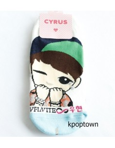 INFINITE 1 Pairs of  Character Socks - WOOHYUN