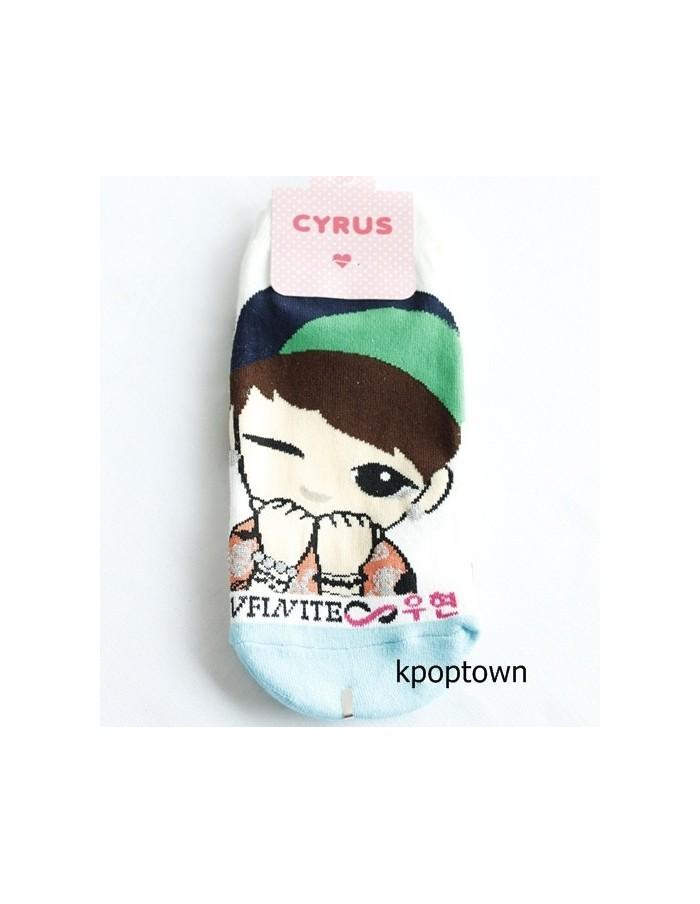 INFINITE 1 Pairs of  Character Socks - WOOHYUN