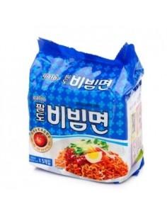 Instant Korean Noodle - Paldo Bibimmyeon(팔도 비빔면) A Bunch of Five Ramens