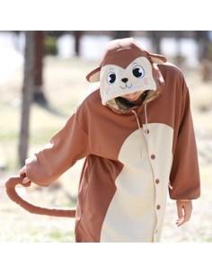 [PJA12] Animal Pajamas - Brown Monkey