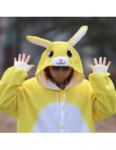 [PJA48] Animal Pajamas - YELLOW RABBIT
