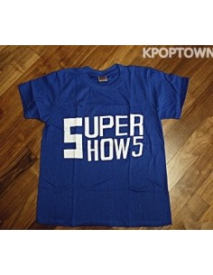 [S97] SUPER JUNIOR Short Sleeve T-shirt : Blue Ver. 2