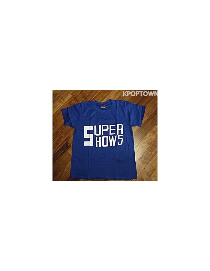 [S97] SUPER JUNIOR Short Sleeve T-shirt : Blue Ver. 2