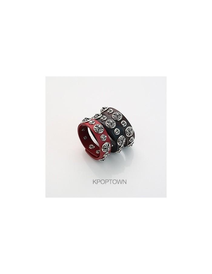 [BB79] Bigbang Round Hearts Leather Bracelet