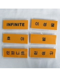 STAR Name Tag Badge of INFINITE Ver 2 - Apricot Color