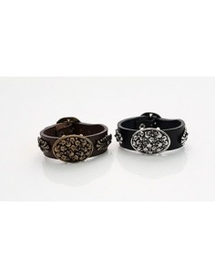[NO40] Skull Hearts Belt Bracelet
