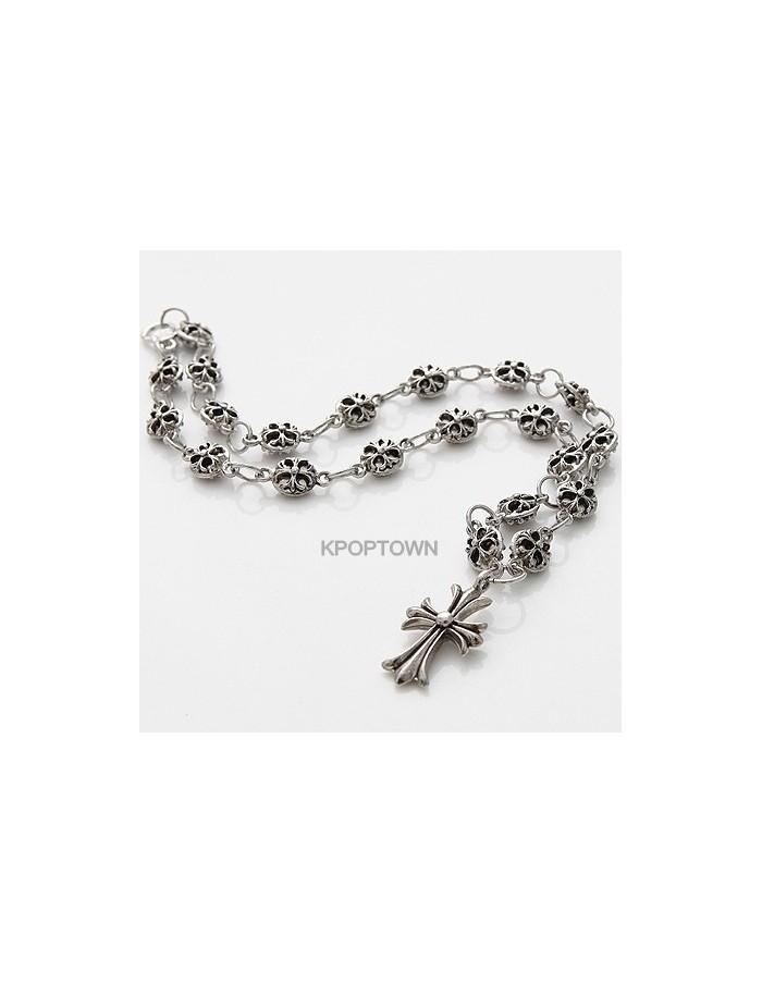 [BA07] B4 Cross Hearts Necklace