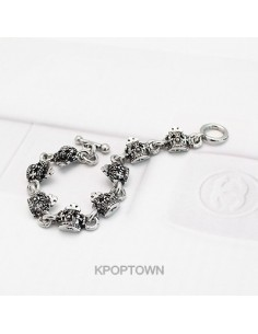 [BE81] Ki* Style Kings Black Bracelet