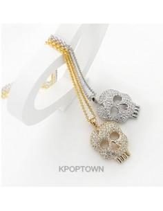 [BP38] BP Lightning Skull Necklace