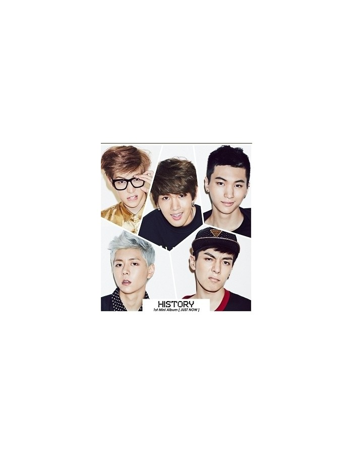 HISTORY 1st Mini Album - JUST NOW CD + Poster