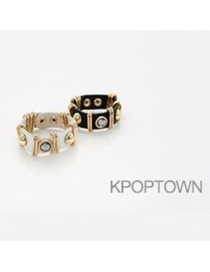 [IN99] INFINITE Gold Cubic Leather Bracelet 3Colors