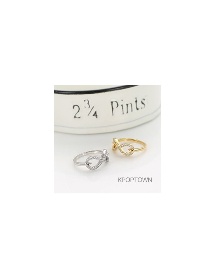 [IN101] INFINITE Rounding Ribbon Ring 2Colors