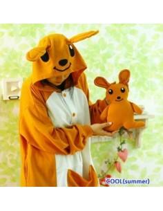 SHINEE Animal Pajamas - Brown Kangaroo