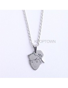 [EX126] EXO Member Character Steel Necklace - Each Members