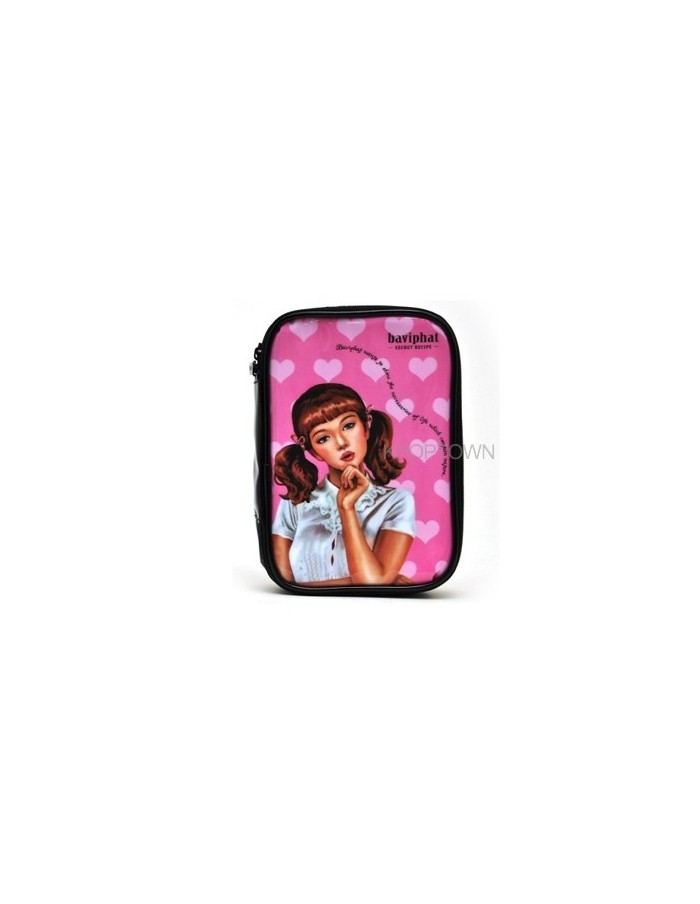 [Baviphat] Baviphat Pink Heart Pouch (150x212x40)