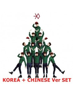 EXO - MIRACLES IN DECEMBER - Korea + Chinese Version SET (2CD + Poster+photocards)