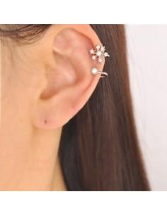 [HO130] Flower Twin Ear Cuff