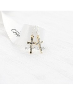 [BP64] Bling Cross Earring ( 2 Kinds )