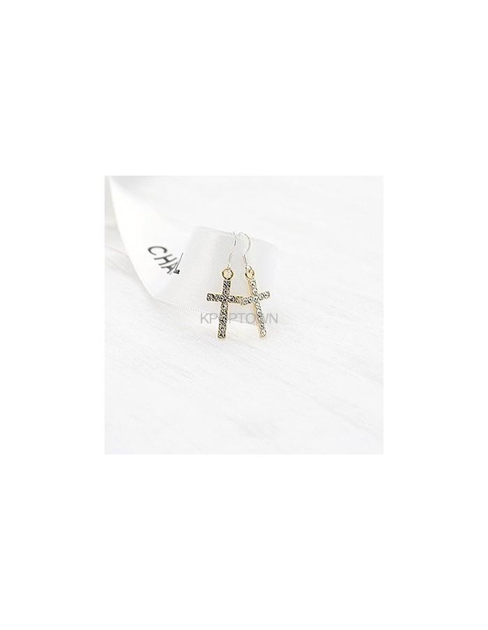 [BP64] Bling Cross Earring ( 2 Kinds )