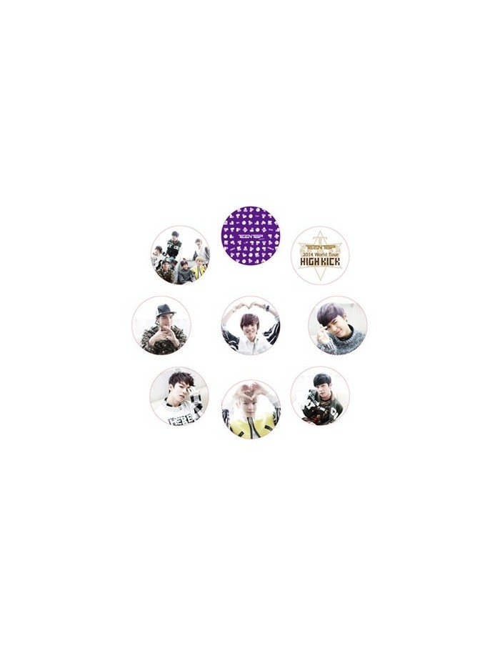 "[TEENTOP Official Goods] 2014 World Tour Concert ""HIGH KICK"" - Button Set"
