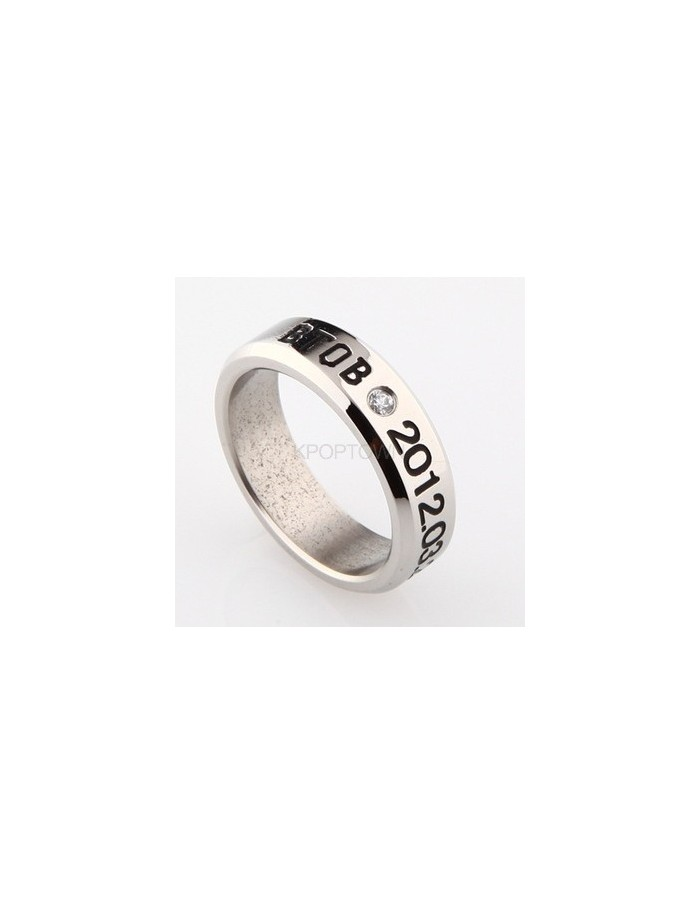 [BT02] Titanium Engraved Name Band Ring : BTOB