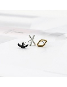 [EX172] EXO Simple Initial Earring 3 Set