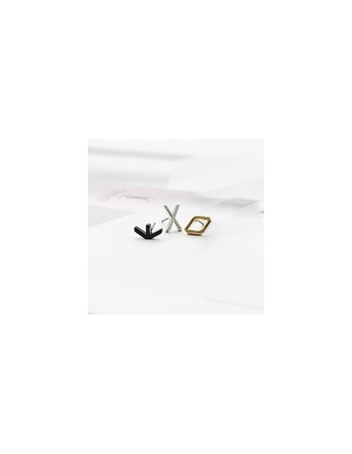 [EX172] EXO Simple Initial Earring 3 Set