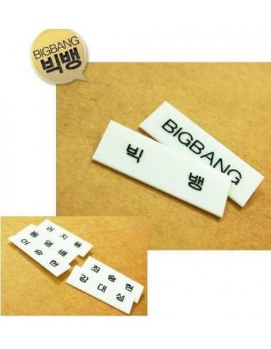 BIGBANG big bang Star Name Tag Badge Ver 2