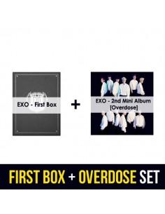 EXO 2nd Mini Album - Overdose + EXO First Box DVD - Special SET Ver.2