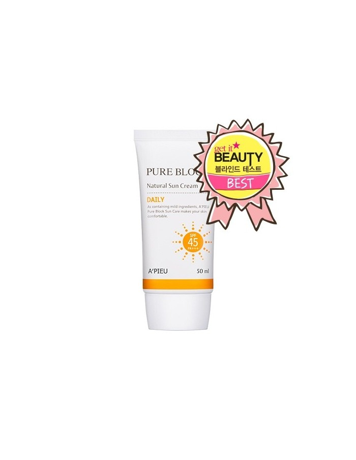 [A'PIEU] Pure Block Natural Daily Sun Cream SPF45 50ml
