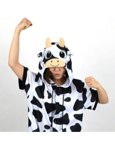 [PJB150] Animal Shorts Sleeve Pajamas - Milk Cow