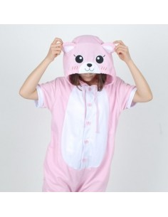 [PJB153] Animal Shorts Sleeve Pajamas - Red Dragon